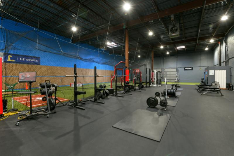 training equipment inside abingdon facility