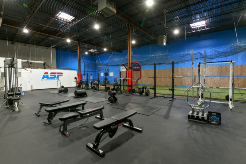 training equipment inside abingdon facility