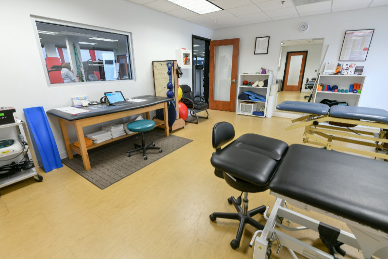 therapy tables used in the facility