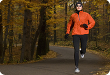 runner in autumn background